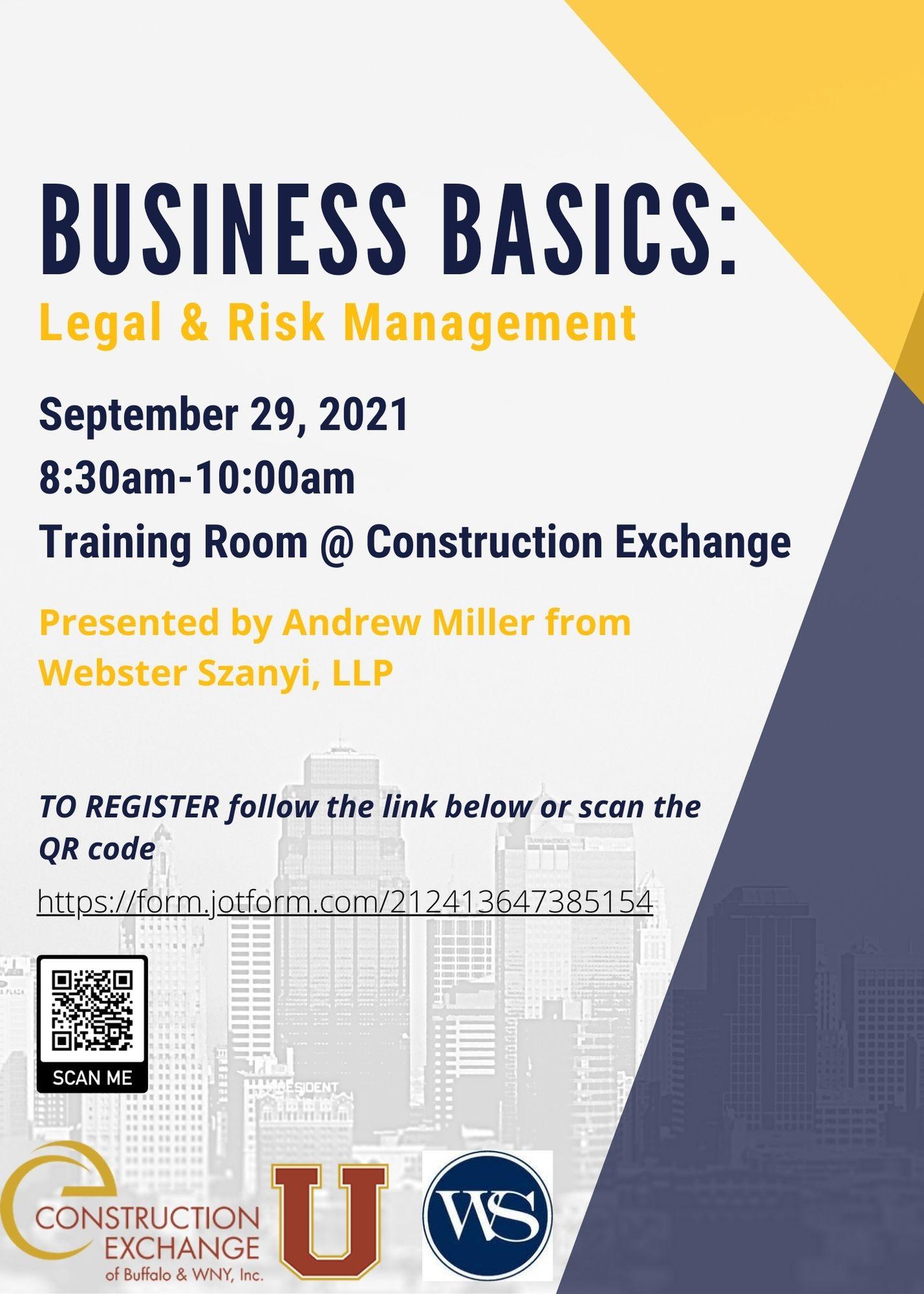 Business Basics: Legal & Risk Management