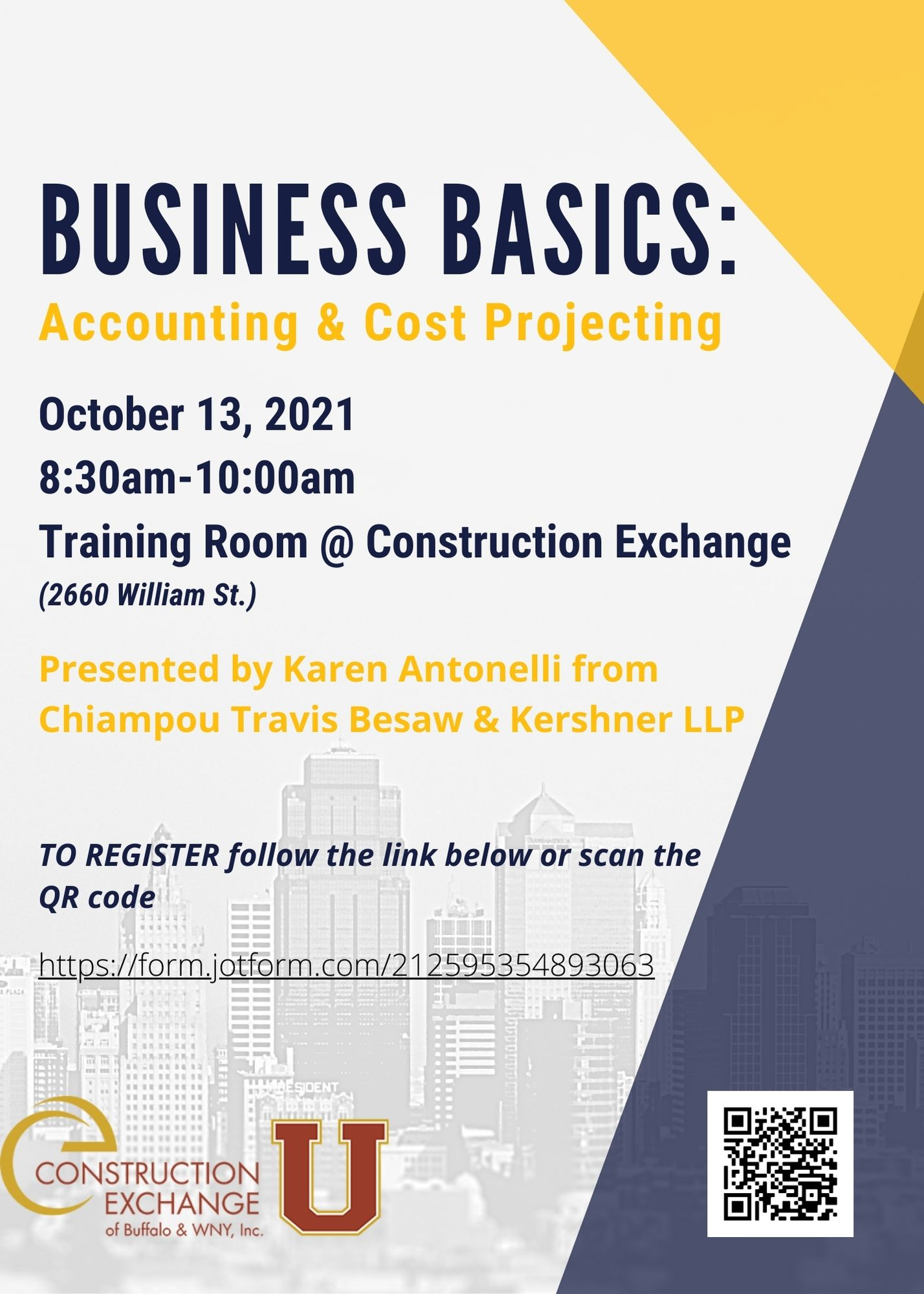 Business Basics: Accounting & Cost Projecting